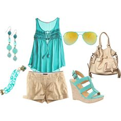 Brunch at the Beach---time for a beach day! Night Outfits, Cool Outfits, Beach Attire, Vacation Outfits, Kids Wear, Get Dressed, Baby Blue, Catwalk, Spring Fashion