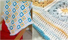 Granny Crochet Square Baby Blanket Free Pattern | DIY