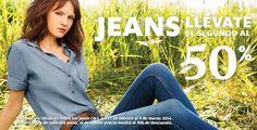 C&A, compra jeans y llévate el segundo con el 50% de descuento.