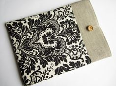 Damask MacBook Air 13 sleeve with pockets MacBook by LinenSleeve, $26.00
