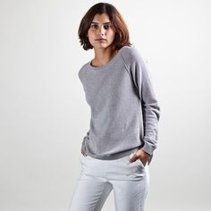 Seed Stitch Raglan from @Everlane. I just bought it in all 3 colors. Yes, I have a problem.