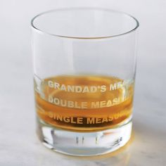 personalised drinks measure glass by becky broome | notonthehighstreet.com