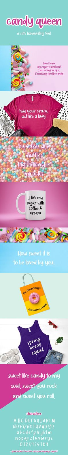 Download Candy Queen Sans Font (852418) today! We have a huge range of Display products available. Commercial License Included. Sweet Like Candy, Brand Fonts, Classroom Projects, Cricut Fonts, Graphic Quotes, Handwriting Fonts, Social Media Logos, Modern Fonts, Silhouette Projects