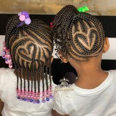 Toddler Braided Hairstyles, Little Girl Braid Hairstyles, Toddler Braids, Cute Hairstyles For Kids, Girls Natural Hairstyles, Baby Girl Hairstyles, Braids For Kids, Girls Braids, Toddler Hair