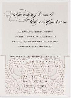 Grata Laser Cut Wedding Invitations
