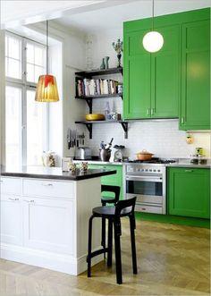 21 Refreshing Green Kitchen Design Ideas Godfather Style Kitchen Interior Design Ideas In N Apartments Interior Design Open Kitchen Living Room Interior Design Kit ~ Deshomz