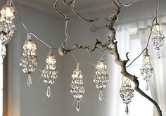 Mini chandelier lights. I didn't even know such a thing existed!