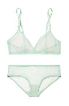 79639975c Yasmine Eslami - Jeanne stretch-tulle soft-cup bra