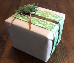 Homestead Survival: Gift Wrapping With Brown Grocery Bags Ideas This Holiday Season DIY Christmas