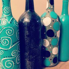 Paint Your Wine Bottles to Match Your Decor
