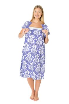 Brie Purple Labor Delivery Maternity Hospital Gown Baby Be Mine Gownie  Push b2fd7a21d