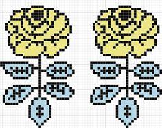 ヴィキルースの図案 |Sabotenのアメブロ編 Beaded Cross Stitch, Cross Stitch Patterns, Knitting Charts, Knitting Patterns, Fair Isle Chart, Knitted Mittens Pattern, Tapestry Crochet Patterns, Weaving Designs, Iron Beads