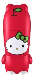 Hello Kitty Apple MIMOBOT USB Flash Drive to bring back and forth to class with my HTC One Red Edition #HTCOneRed