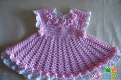 Step by step a children's dress, Beautiful crochet free paterns !!!   Okay friends, I found this beautiful yarn child crochet dr...
