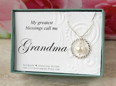 Mothers Day gift for Grandma gift sterling silver by SilverStamped