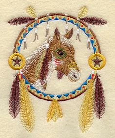 This is for all my horse loving friends, like Honey! Christmas dreamcatcher | Machine Embroidery Designs at Embroidery Library! - Horse Dream ...