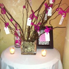 Wish Tree - Have tags for guests to put their wish on for the Bride and Groom.  What a cute idea