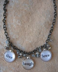 Live, Laugh, Love soldered charm necklace!