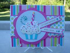 It's your birthday - Scrapbook.com  card made by me- Lynn Weber