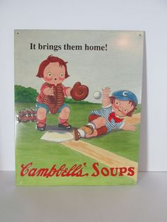 OriginalCampbell Soup Kids Nostalgic Advertising Sign #11 Of A Series Of 20 1993 #CampbellSoup