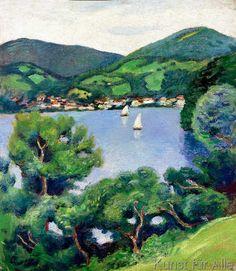 August Macke - Ansicht vom Tegernsee