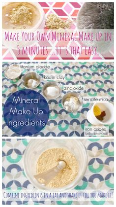 DIY Mineral Makeup-This could not be easier! I think this looks better then bare minerals!