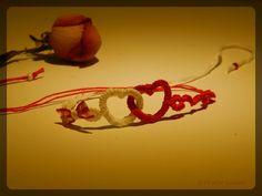 Hearts... valentine s day Needle tatting, cotton thread. friVolite Gataki