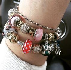 Pandora colorful bracelets