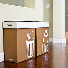 Stylish Recycle and Garbage Bins! Green and easy for your next party!