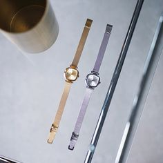 Komono Moneypenny Royale Gold and Silver. Which precious timepiece would you pick ladies? #komono #watches #Christmasgift