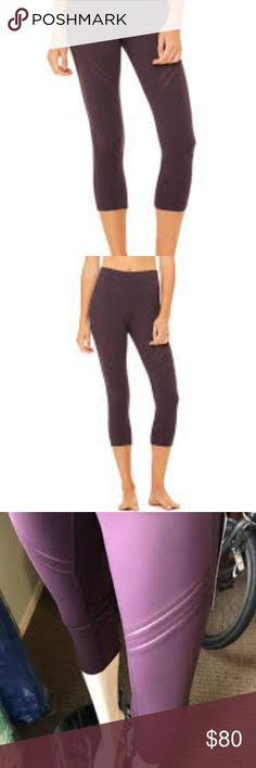 1426d090e6fcb NWT Alo High Waisted Cosmic Capri in Eggplant Out of Stock online! High  waisted capri