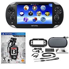 PS Vita 3G / Wi-Fi Console w/ Unit 13 & 10-in-1 Accessory Kit