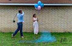 Golf gender reveal #genderreveal #itsaboy