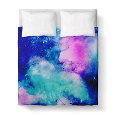 Duvet Cover, Galaxy Blue Pink by Ziya Blue