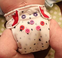"""Ragababe Newborn """"Snapped"""" Easy All In One Cloth Diaper Review - One of the tiniest newborn diapers tested by this reviewer (you can see it here on an 8.5 pound baby - it can get even smaller!)"""