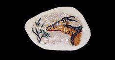 Dianas Antelope. 9.5x15.Italian glass smalti, marble.