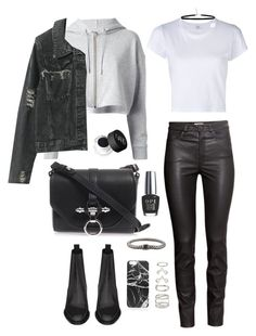 """""""Untitled #95"""" by manerefortis ❤ liked on Polyvore featuring Yves Saint Laurent, H&M, RE/DONE, Givenchy, Boohoo, John Hardy, Forever 21, OPI and NARS Cosmetics"""