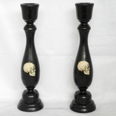 Unbelievable Gothic Home Decor – Black Candle Holder – Skulls. $19.00, via Etsy.  The post  Gothic Home Decor – Black Candle Holder – Skulls. $19.00, via Etsy….  appeared first on  Nenin Decor .