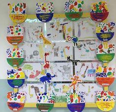 early years, reception, Handa's Surprise, arts & crafts display board
