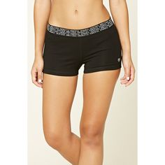 Forever21 Active Stretch-Knit Shorts (€7,23) ❤ liked on Polyvore featuring shorts, forever 21 and forever 21 shorts