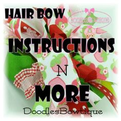 DIY Hair Bow Instructions | ... Hair Bow Instructions and more The WORKS by DoodlesBowtique DIY FREE