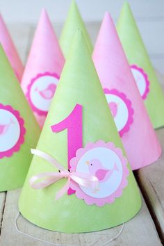 Party hats for Sienna's 1st Birthday