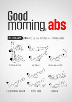#GoodMorning #Abs #absworkout #morningabs #morningabsworkout #fitness #workout #exercise #6packabs