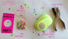 HAPPY MAIL: DIY CONFETTI PACK: FREE PRINTABLE