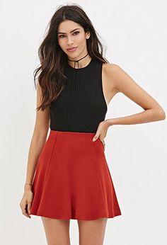Mini Skater Skirt | Forever 21 - 2000164589
