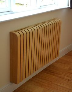 Customised wooden radiator cover