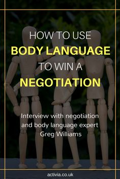 With the richness of his 30 years of negotiation and reading body language experience, Greg Williams is an accomplished author, speaker and trainer recognized worldwide for his knowledge and insight on those subjects. Read the full interview here: https://www.activia.co.uk/interviews/greg-williams