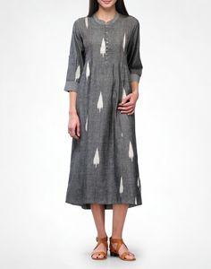 Leaf Ikat Tunic - Kurtas - Clothing