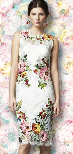Dolce & Gabbana.  I usually don't wear floral prints but this dress has just the right amount.  Romantic dress.