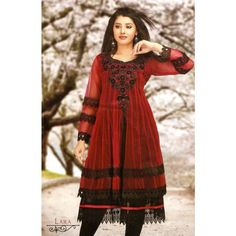 Double Layered Red and Black #Kurti